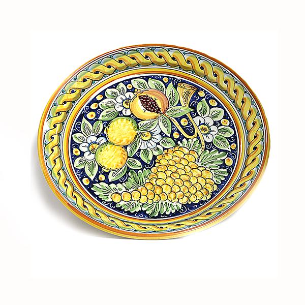 Keramikinė rankų darbo lėkštė