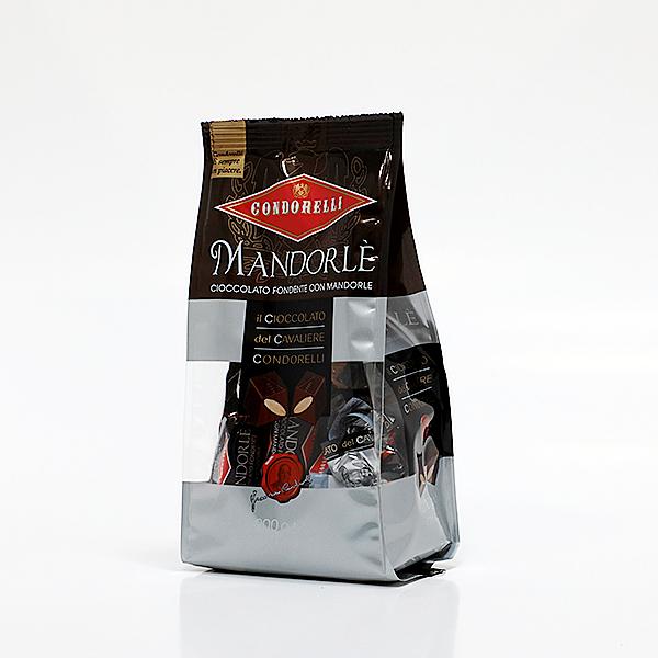Juodojo šokolado saldainiai su migdolais 200 g