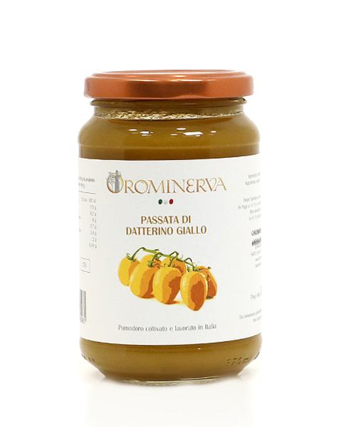 Geltonųjų Datterino pomidoriukų tyrė 360 g