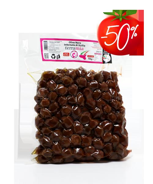 Juodosios Sicilijos alyvuogės 1 kg